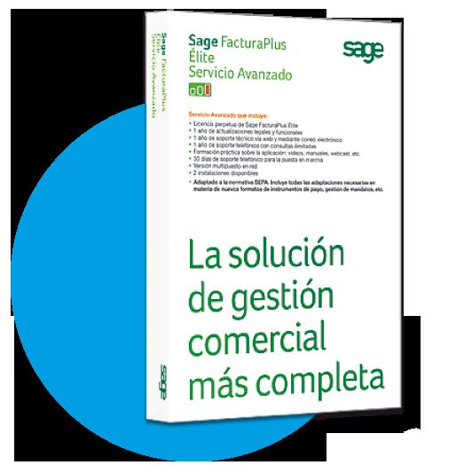 Sage facturaplus elite licencia perpetua servicio estandar
