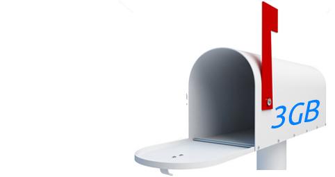 3Gb de correo en Hosting